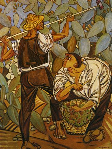 400 Pittore Giuseppe Migneco Raccoglitori di fichidindia (1)