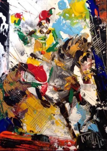 Pittore Francesco Toraldo 15 - cavallo coppe