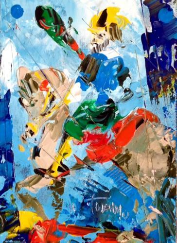 Pittore Francesco Toraldo 31 - cavallo bastoni