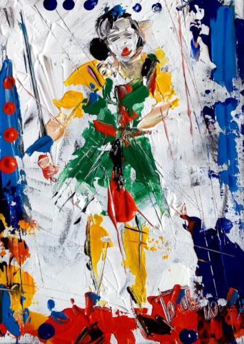 Pittore Francesco Toraldo 39 - donna spade