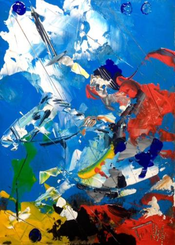 Pittore Francesco Toraldo 45 - cavallo spade