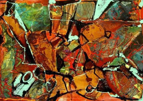 Pittrice Olga Brucculeri - Senza titolo