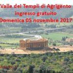 Domenica 5 novembre ingresso gratuito alla Valle dei Templi